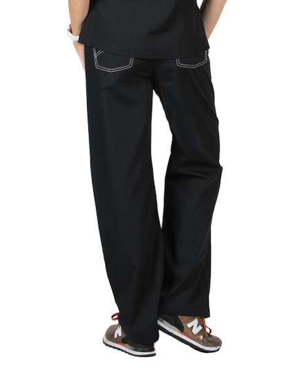 Black Shelby Scrubs Pant - Petite Grey Label