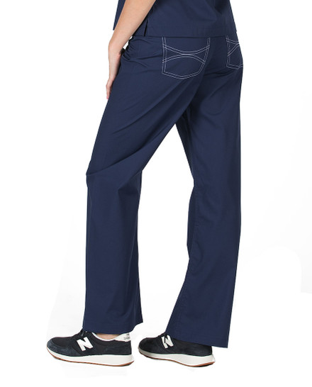 Navy Shelby Scrubs Pant - Petite Grey Label