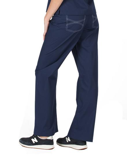 Navy Shelby Scrubs Pant - Petite Grey Label