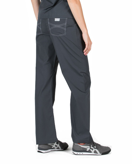 Pewter Shelby Scrubs Pant - Petite Grey Label