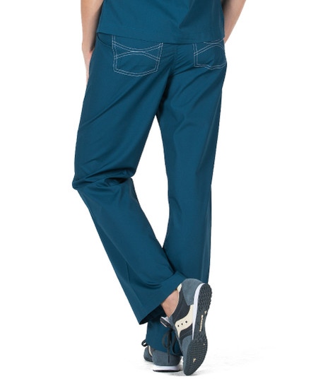 Caribbean Shelby Scrubs Pant - Petite Grey Label