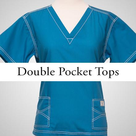 Small Womens Double Pocket Urban Tops