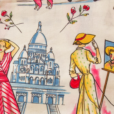 French Love Affair Poppy Scrub Hat