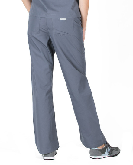 Charcoal Scrub Pant - Petite Grey Label