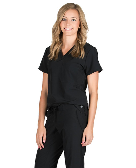 Black Emerson Technical Scrub Top
