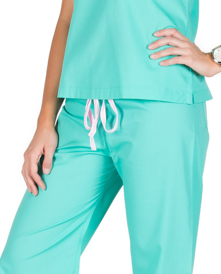 Small Tall Carnegie Green Shelby Womens Scrubs Pants