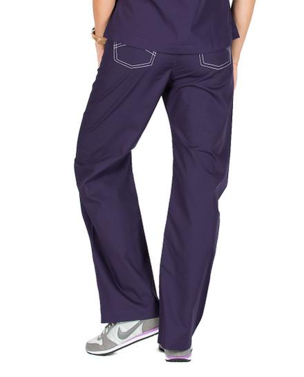 Medium Tall Eggplant Shelby Surgical Scrub Pants