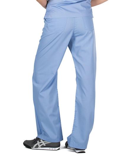 XS Tall Ceil Blue Simple Medical Scrubs Pants