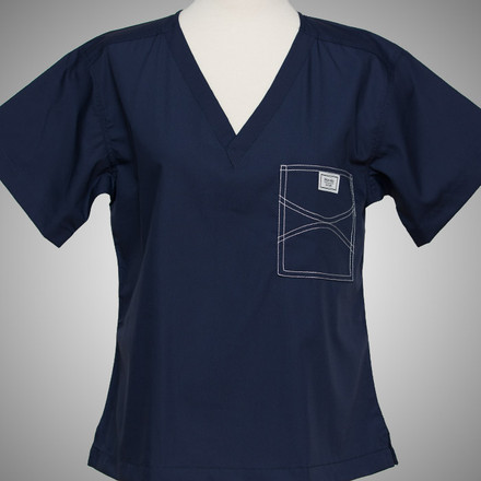 Large Long Navy Blue Shelby Sullivan Scrub Tops