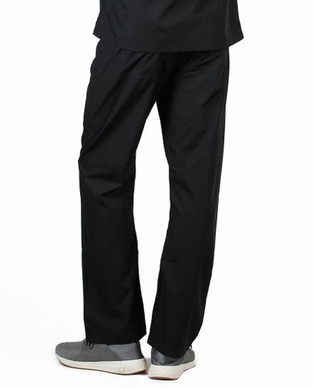 """Large Tall 34"""" - Jet Black David Simple Scrub Pant"""