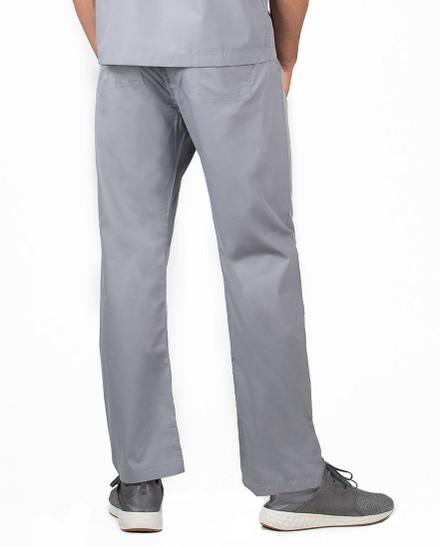 "Large Tall 34"" - Slate Grey David Simple Scrubs Pant"