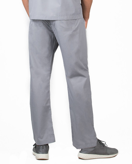 "Large Tall 34"" - Slate Grey David Simple Scrubs Pant"