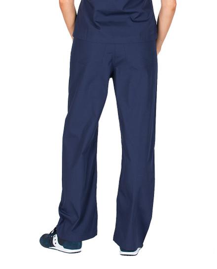 Medium Petite Navy Blue Womens Simple Scrubs Pants