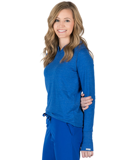Tyler Hooded Long Sleeve Tee - Royal Heather