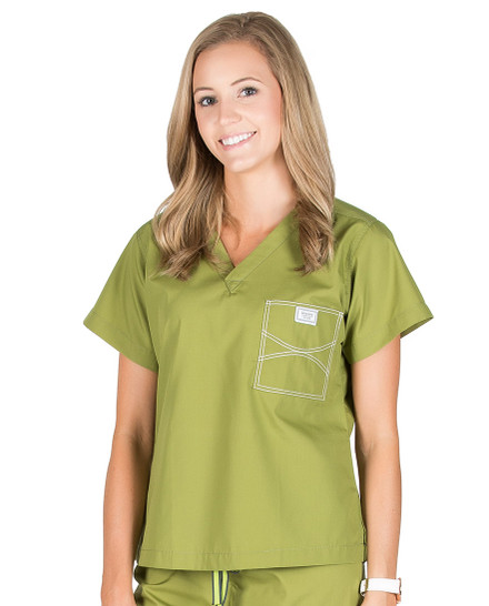 XL Long Olive Green Shelby Medical Scrub Top