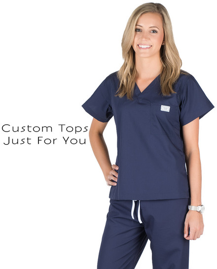 Womens Custom Scrub Tops