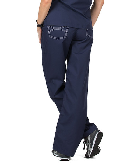 "2XL Tall 32"" Navy Blue Shelby Scrub Pants"