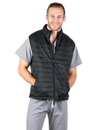 Black Hugo Puffer Vest