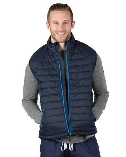 Navy Hugo Puffer Vest
