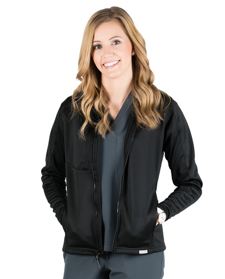 Black Bailey Knit Softshell Jacket