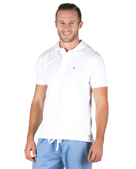 Henley Stretch Polo for Men
