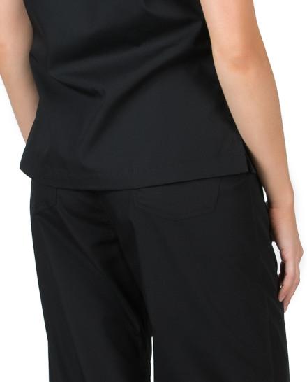 "Medium Tall 36"" - Jet Black Simple Scrub Pants"