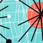 Mod Art Poppy Scrub Hat for Women - Image Variant_0