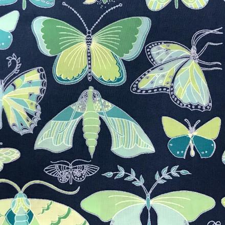 Luminous Butterfly Poppy Scrub Hat