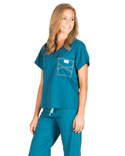 Large Long Caribbean Shelby Scrub Tops