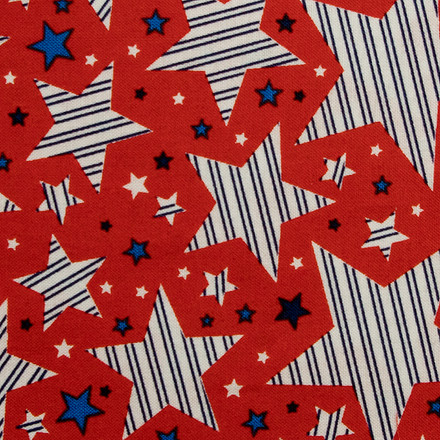 Stars and Stripes Poppy Scrub Cap