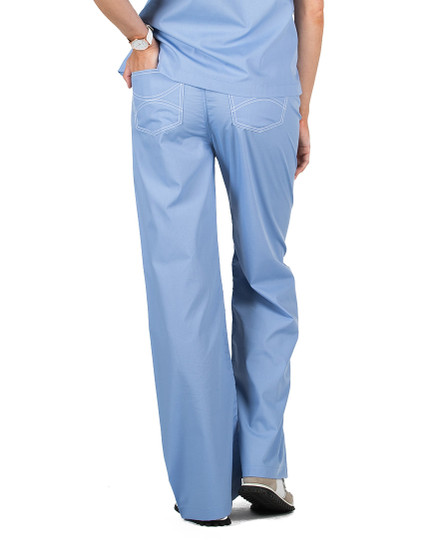 "Small Tall 34"" - Ceil Blue Classic Shelby Scrub Pants"