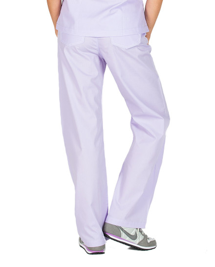 Small Petite French Lilac Shelby Scrub Pants