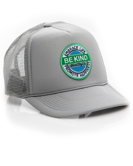 Be Kind Trucker Hat - Grey
