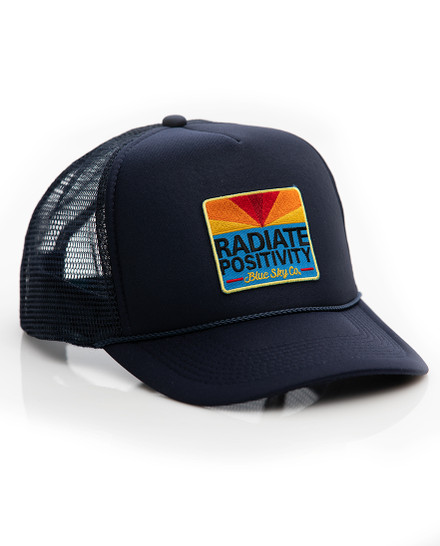 Radiate Positivity Trucker Hat - Navy