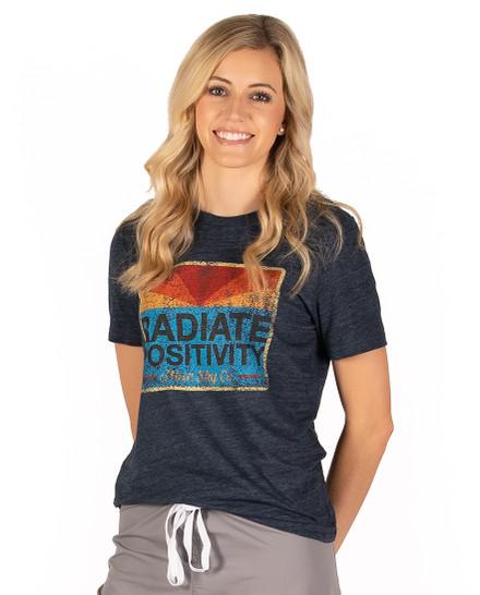 Radiate Positivity Vintage Tee - Navy Slub