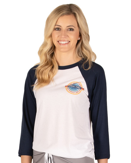 Love Life Vintage Baseball Tee - Navy-White