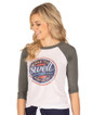 Make it a Swell Day Vintage Baseball Tee - Grey-White - Image Variant_1