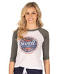 Make it a Swell Day Vintage Baseball Tee - Grey-White - Image Variant_0