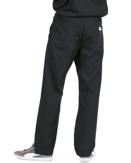 "Medium Tall 34"" - Jet Black David Simple Scrub Pant"
