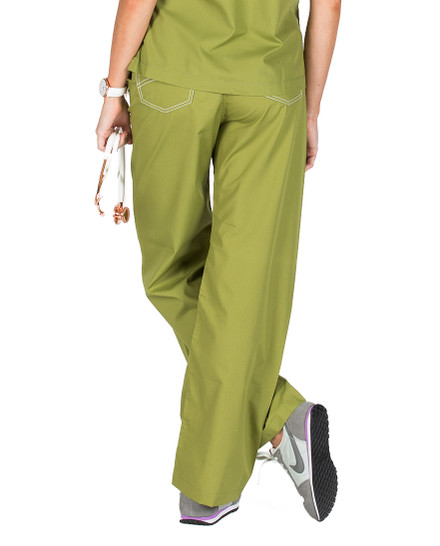 """Small Tall 32"""" - Olive Green Shelby Scrub Pants"""