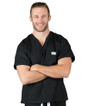 3XL Jet Black David Simple Scrub Top - Image Variant_0