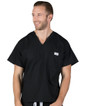3XL Jet Black David Simple Scrub Top - Image Variant_3