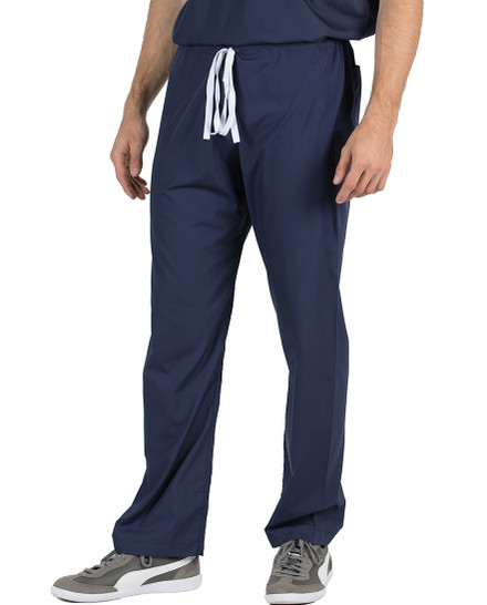 "Medium Tall 32"" - Navy Blue David Simple Scrub Pant"