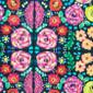 Flowered Mosaic Pony Scrubs Cap - Image Variant_0