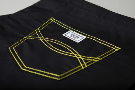 "Small Tall 30.5"" - Jet Black with Yellow Shelby Stitching Scrub Pants"