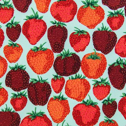 Strawberry Patch Poppy Scrub Caps
