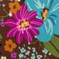Mocha Garden Poppy Surgical Caps - Image Variant_0