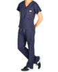 Limited Edition Shelby Scrub Tops - Navy with Strawberry Stitching - Image Variant_1