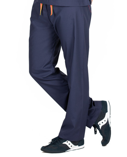 Limited Edition Shelby Scrub Pants - Navy with Strawberry Stitching