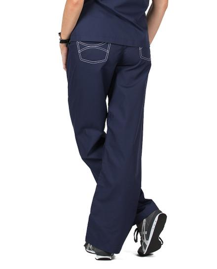 "2XL Tall 34"" - Navy Blue Classic Shelby Medical Scrub Pants"